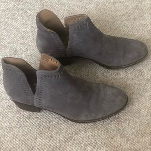 Lucky brand blue grey suede bootie size 8